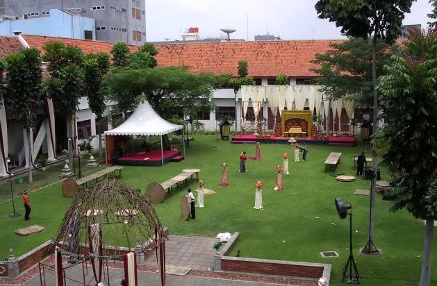Jalan Museum Arsip Nasional Jakarta Bagian Belakang Gedung Gajah Indonesia