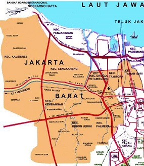 Saka Pariwisata Jakarta Barat Wisata Peta Musium Tekstil Kota Administrasi
