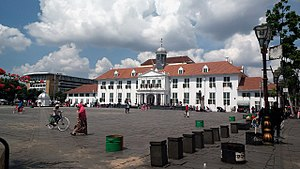 West Jakarta Wikivisually Kota Administrasi Barat Stadhuis Town North Jpg