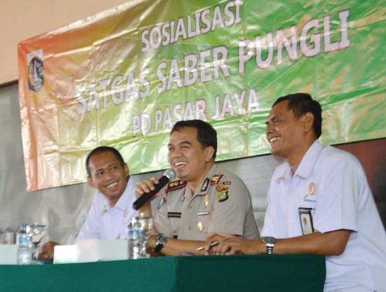 Gandeng Kepolisian Pd Pasar Jaya Gelar Sosialisasi Satgas Saber Ketua