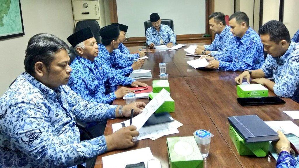 Seko Memimpin Rapat Lanjutan Technical Meeting Berita Foto Kota Administrasi