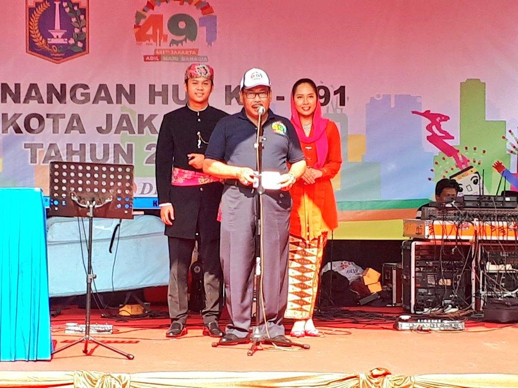 Walikota Membuka Acara Pencanangan Hut 491 Kota Jakarta 2018 Pasar