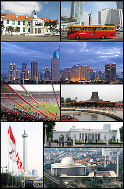 Jakarta Wikipedia Top Left Town Hotel Indonesia Roundabout Gereja Katedral
