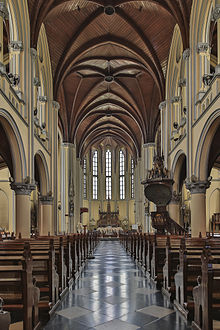 St Mary Assumption Cathedral Jakarta Wikipedia View Nave Vault Gereja