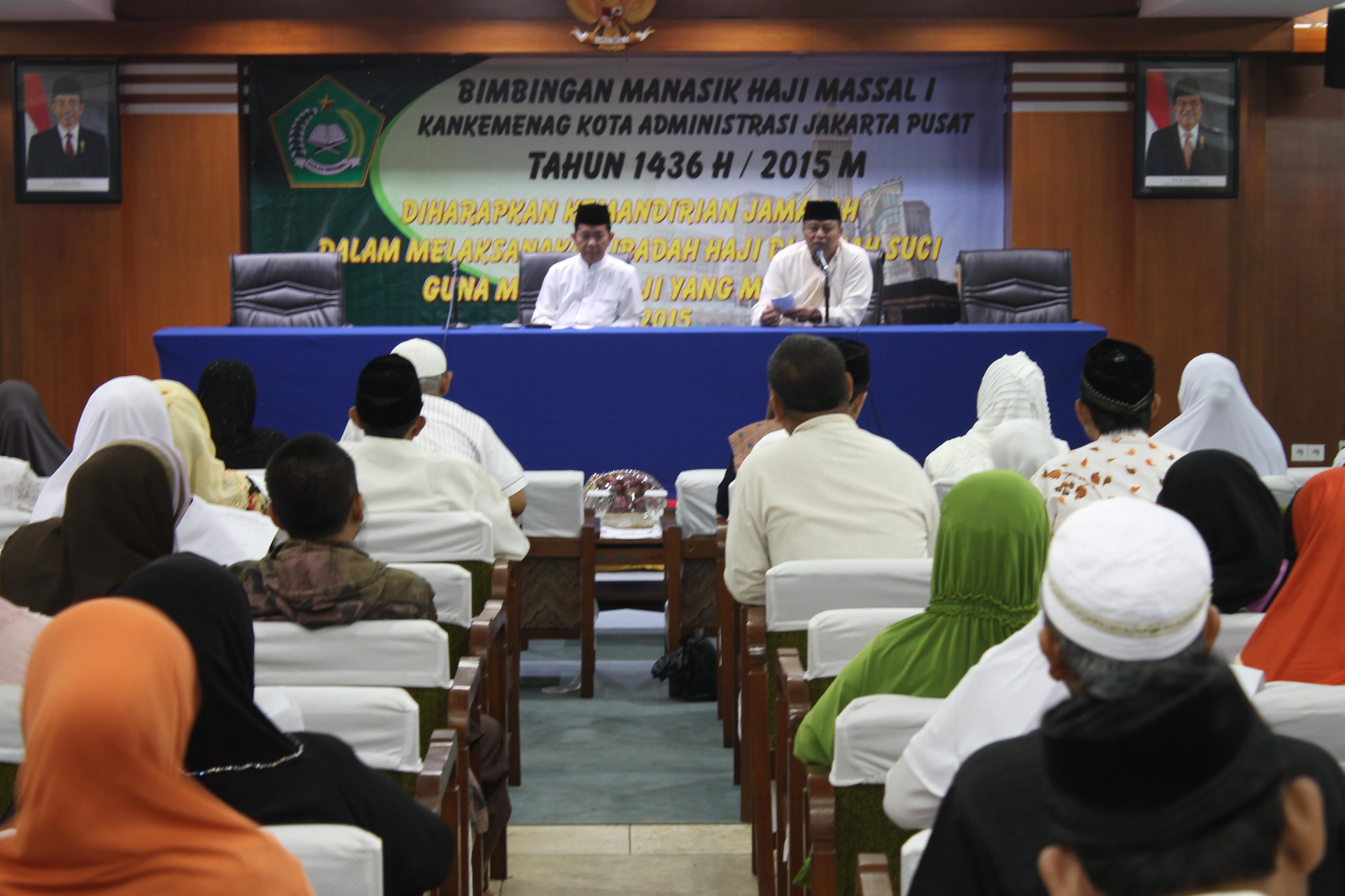 486 Calon Jemaah Haji Asal Jakarta Pusat Ikuti Bimbingan Manasik
