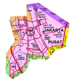 Hotel Jakarta Pusat Murah Penginapan Peta Masjid Istiqlal Kota Administrasi