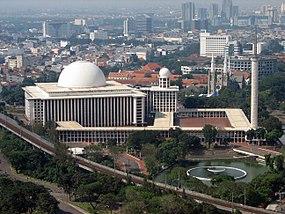 Masjid Istiqlal Wikipedia Bahasa Indonesia Ensiklopedia Bebas Kota Administrasi Jakarta