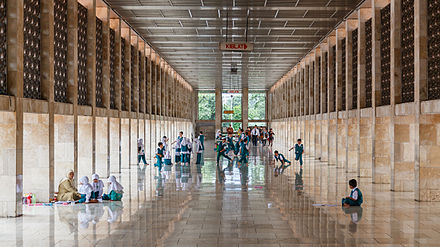Masjid Istiqlal Wikiwand Koridor Kota Administrasi Jakarta Pusat