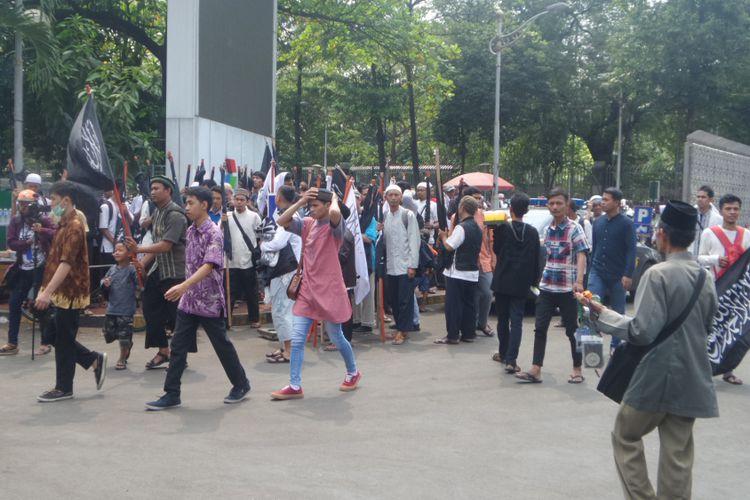 Massa Aksi 287 Menuju Patung Kuda Istiqlal Kompas Mulai Berkumpul