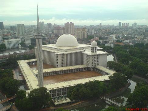 Rindu Masjid Istiqlal Jakarta Terdiri Bangunan Utama Dua Plataran Tengah