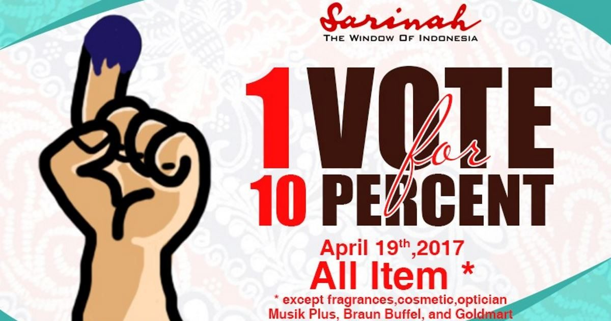 Sarinah Premium Quality Indonesian Products Offers 10 Discount Jakarta Election