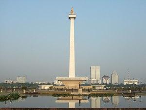 Central Jakarta Wikivividly Kota Administrasi Pusat Monas View Gambir Bus