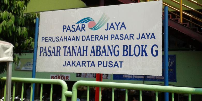 Beda Kondisi Pasar Blok Tanah Abang Kompas Kota Administrasi Jakarta