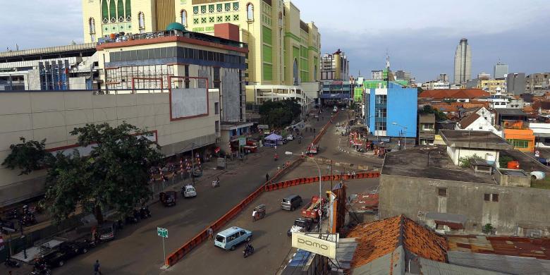 Kawasan Pasar Tanah Abang Macet Kompas Lintas Jakarta Pusat Tampak