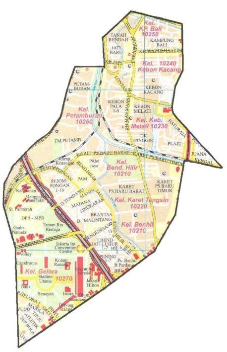 Kota Administrasi Jakarta Pusat Darwin Darkwin Kecamatan Tanah Abang Terletak
