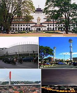 Bandung Wikipedia Clockwise Top Gedung Sate Grand Mosque Night Taman