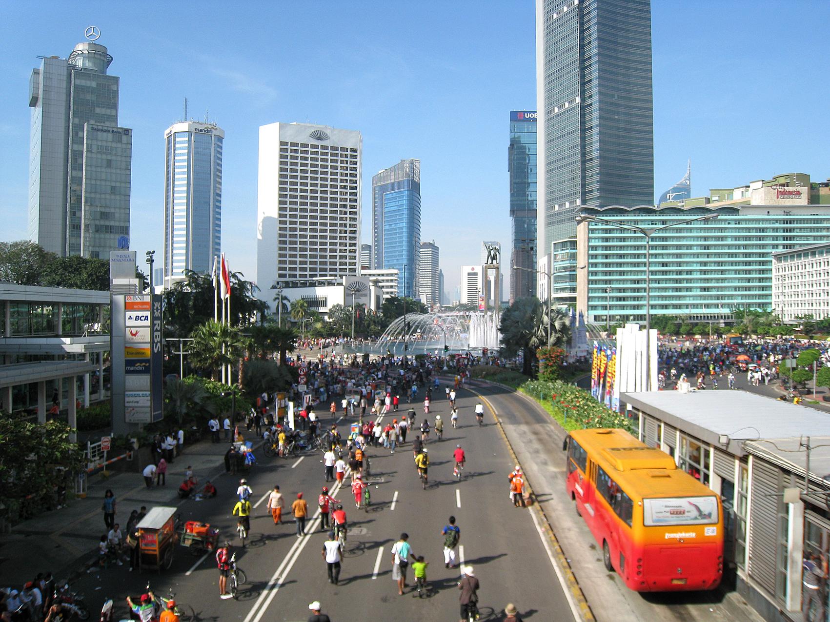 Jakarta Car Free Day Jpg Taman Lembang Kota Administrasi Pusat