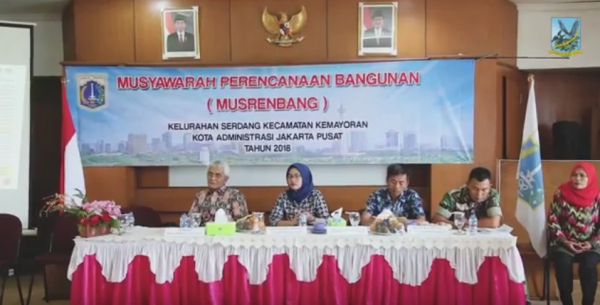 Jakarta Pusat Pemerintah Kota Administrasi Musrenbang Kelurahan Serdang Penerimaan Paskibraka