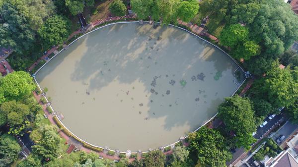 Jakarta Pusat Pemerintah Kota Administrasi Puluhan Tanaman Ditanam Lembang Taman