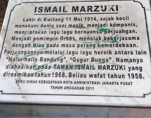 Keliling Jakarta Taman Ismail Marzuki Batu Bertuliskan Lembang Kota Administrasi