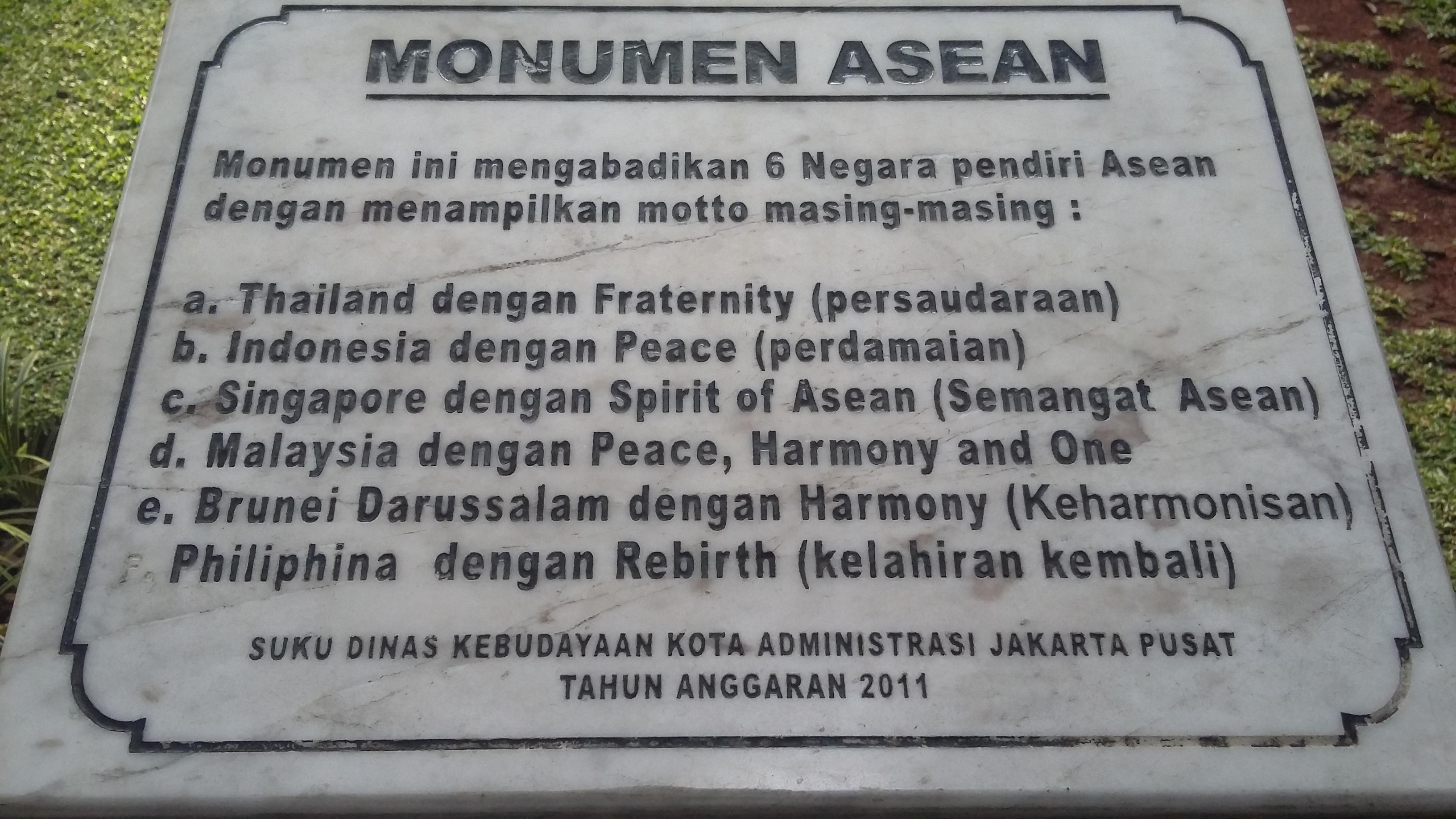 File Monumen Asean Taman Suropati Jpg Wikimedia Commons Kota Administrasi