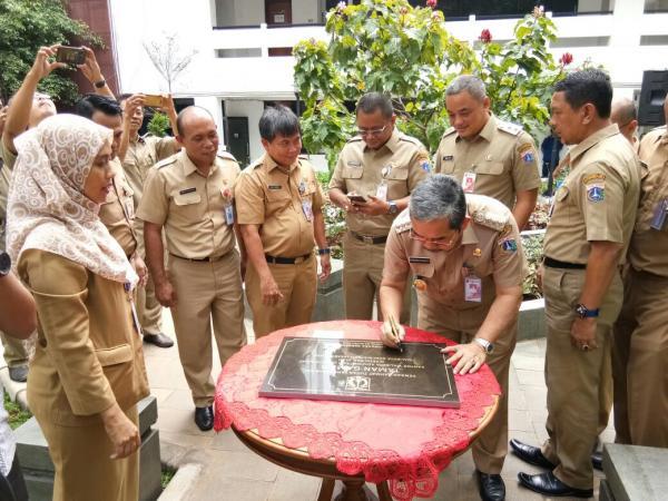 Jakarta Pusat Pemerintah Kota Administrasi Walikota Jakpus Resmikan Taman Gambir