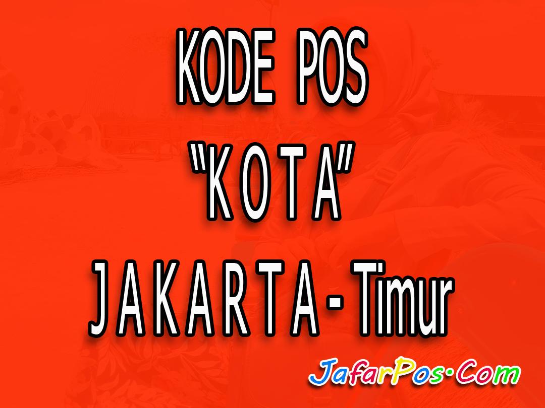 Kode Pos Jakarta Timur Lengkap Taman Mini Indonesia Indah Tmii