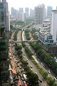 Lomsvatern Jakarta Jalan Jenderal Sudirman Main Avenue Business District Dunia