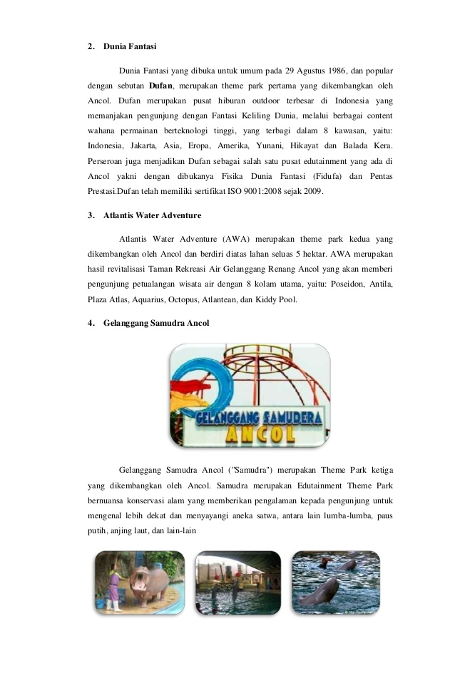Laporan Karya Wisata Jakarta 25 2 Dunia Fantasi Dufan Kota