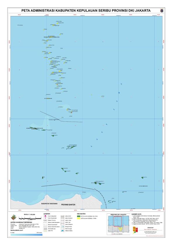 Administrasi Kabupaten Kepulauan Seribu Peta Tematik Indonesia A1 1 Kota