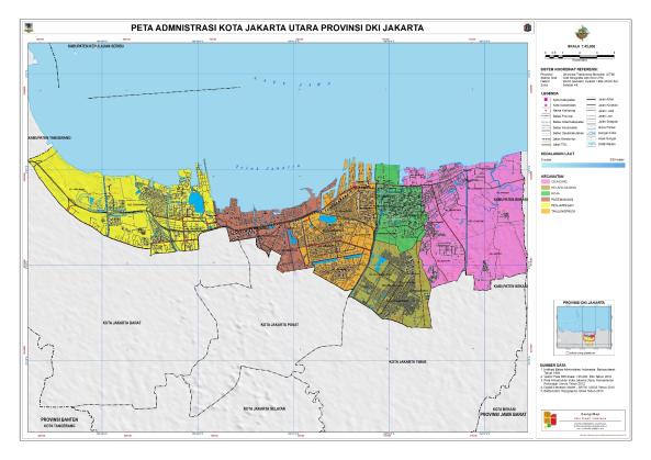 Administrasi Kota Jakarta Utara Peta Tematik Indonesia Kepulauan Seribu