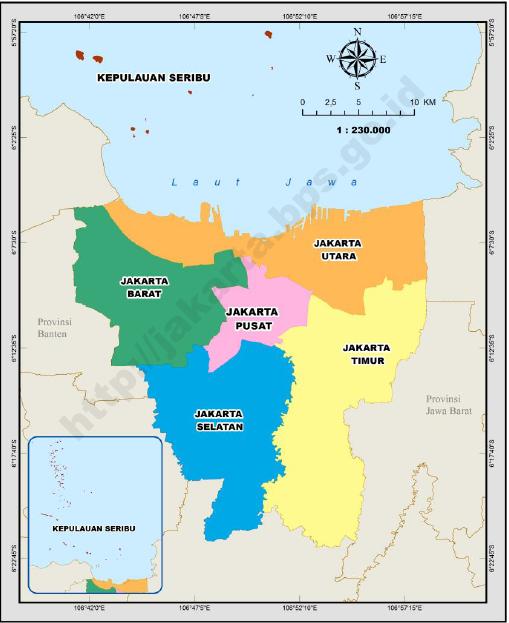 Almaida Medina Peta Deliniasi Batas Wilayah Jakarta Timur Kepulauan Seribu