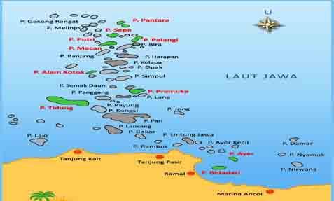 Obyek Wisata Jepege 130605 Peta Kepulauan Seribu Kabupaten Administrasi Kota