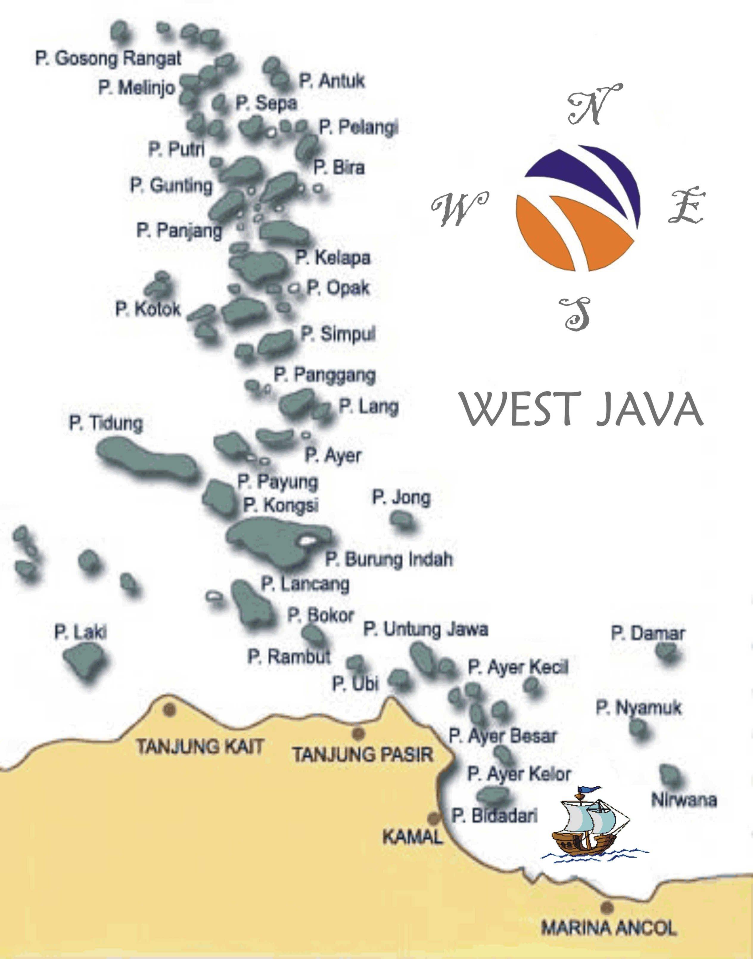 Pulau Air Wisata Jakarta Kepulauan Seribu Limakaki Peta Tips Menikmati