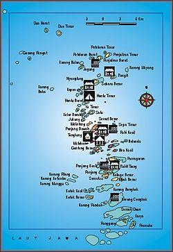 Taman Nasional Kepulauan Seribu Wikipedia Bahasa Indonesia Peta Kota Administrasi