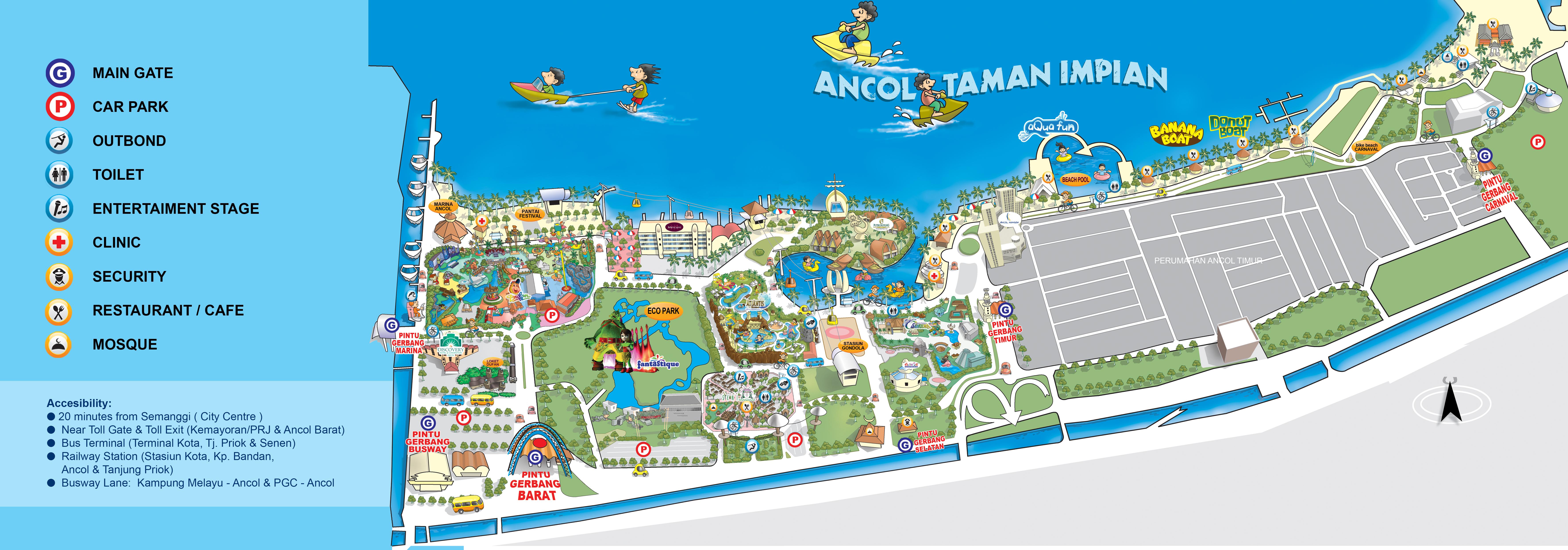 Peta Jpg Sign Ocean Dream Ancol Kota Administrasi Jakarta Utara