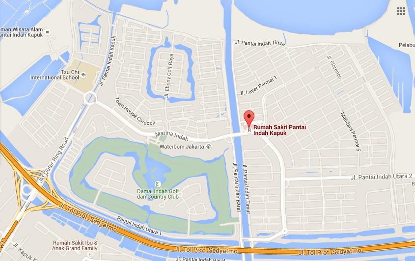 Rs Pantai Indah Kapuk Jakarta Pusat Pengobatan Peta Lokasi Waterbom