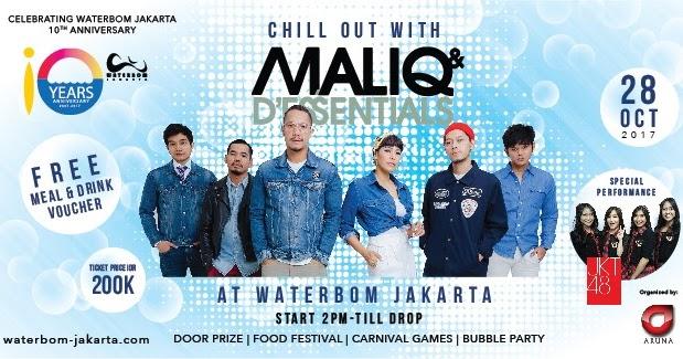 Tiket Konser Maliq Essentials Waterbom Jakarta Kota Administrasi Utara
