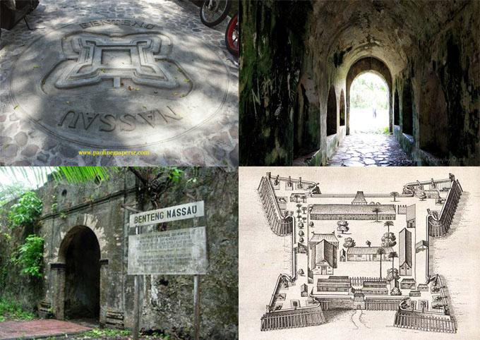 Kisraya Benteng Nassau Belanda Pertama Dibangun Pulau Neira Kepulauan Banda