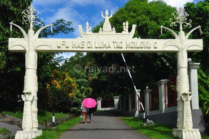 Maluku Travel Photography Gapura Masuk Museum Siwalima Ambon Siwa Lima