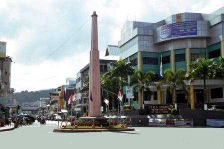 Monumen Budaya Wisata Ambon Tugu Trikora Berada Tengah Pusat Kota