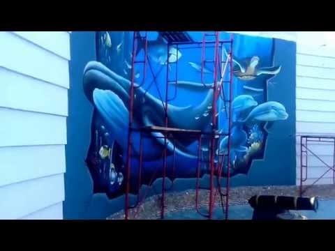 Download Videos Omgyoutube Net Lukisan Dinding 3 Dimensi 3d Hasil