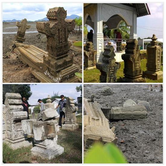 Komplek Pemakanan Raja Gampong Pande Salah Satunya Ketiga Makam Letaknya