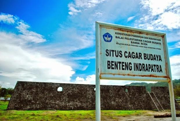 Wisata Sejarah Benteng Indra Patra Krueng Raya Visit Aceh Berseblahan