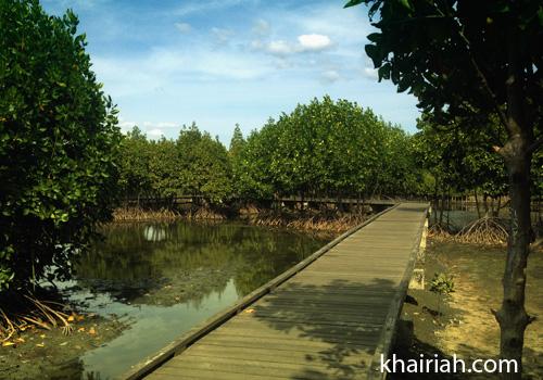 Aceh Hutan Kota Bni Miniatur Hujan Tropis Banda Jembatan Atas