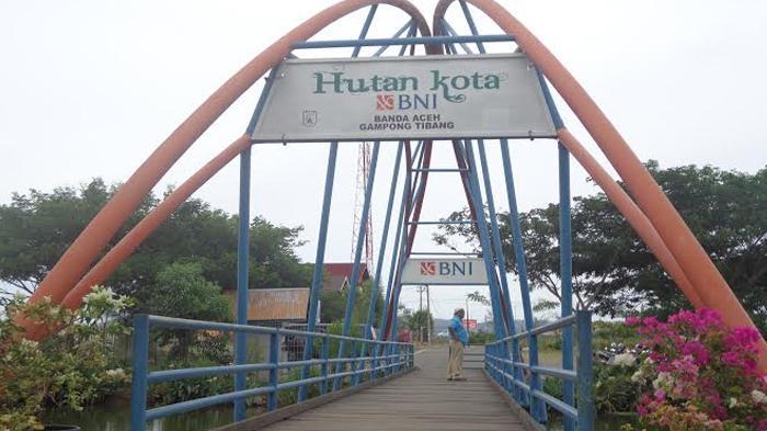 Hutan Kota Tibang Syiah Kuala Aceh Lokasi Selfie Obyek Jembatan