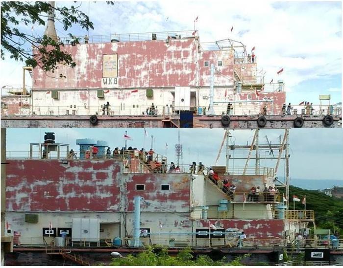 Kedahsyatan Tsunami Terekam Monumen Kapal Pltd Apung Oleh Pengunjung Menikmati