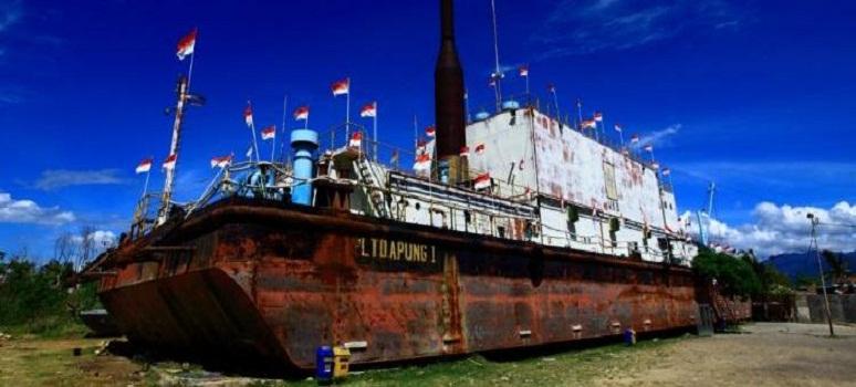 Objek Wisata Museum Kapal Pltd Apung Kota Banda Aceh Provinsi