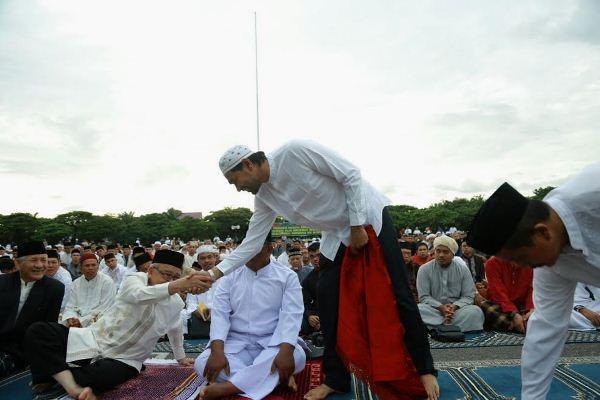 Idul Adha Warga Banda Aceh Padati Lapangan Blang Padang Shalat