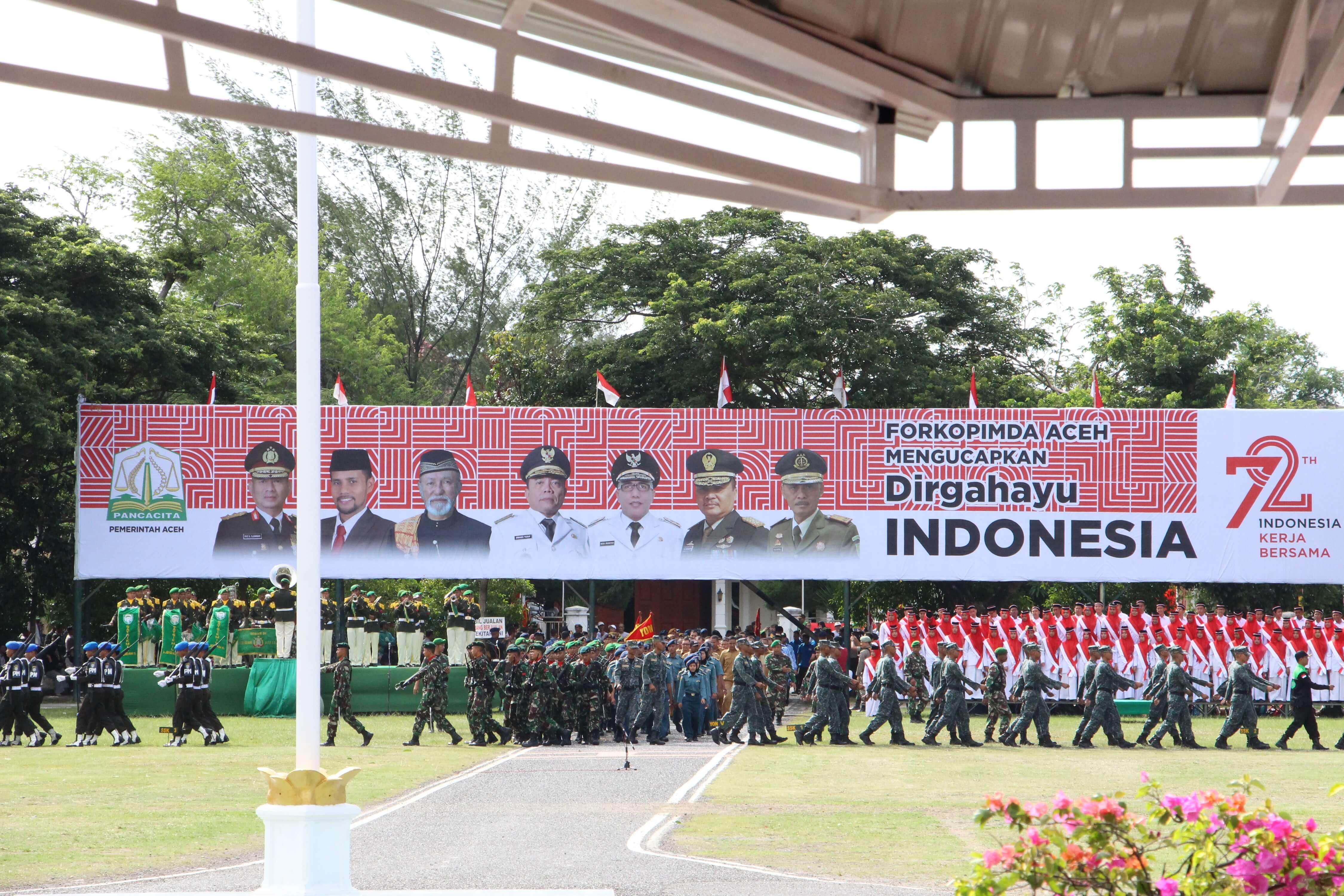 Kepala Kanwil Djpbn Prov Aceh Menghadiri Upacara Kemerdekaan Lapangan Blang